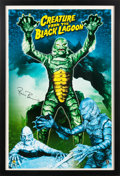 "Movie/TV Memorabilia:Autographs and Signed Items, A Ricou Browning Signed Poster Related to ""Creature from the Black Lagoon,"" Circa 2005...."