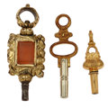 Timepieces:Other , Three Vintage Watch Keys. ... (Total: 3 Items)