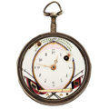 Timepieces:Pocket (pre 1900) , Lewis Cristin French Fancy Dial Verge Fusee For Restoration. ...