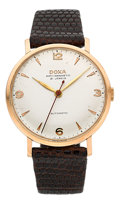 Timepieces:Wristwatch, Doxa 14k Rose Gold Automatic. ...