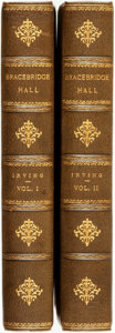 Books:Literature Pre-1900, Washington Irving. Bracebridge Hall or the Humourists. NewYork: G. P. Putnam's Sons, 1896.... (Total: 2 Items)