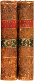 Books:Literature Pre-1900, [Greek Classics]. [Homer]. The Iliad and Odyssey of Homer,Translated into English Blank Verse, by W. Cowper. Du...(Total: 2 Items)