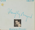 Movie/TV Memorabilia:Autographs and Signed Items, An Autograph Book with Signatures Including Humphrey Bogart, ErrolFlynn, and Groucho Marx Among Others, 1948-1950....
