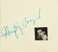 Movie/TV Memorabilia:Autographs and Signed Items, An Autograph Book with Signatures Including Humphrey Bogart, MaryPickford, and Gloria Swanson Among Others, Late 1940s....