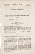 Books:Americana & American History, [Andrew Jackson]. Boundary With Mexico. Message From thePresident of the United States, Upon the Subject of the Treaty...