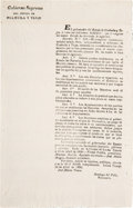 Miscellaneous:Broadside, Decree Issued by the Congress of the State of Coahuila and TexasEstablishing Schools....