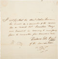 Autographs:Statesmen, Richard Ellis Autograph Document Signed as President of the Convention of 1836. ...