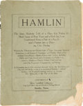 Books:Americana & American History, [Texas] Hamlin. The Story, Modestly Told of a Place thatWithin the Short Space of Four Years and a Half, ha...