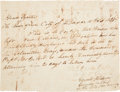 Autographs:Military Figures, [Siege of Bexar] and [New Orleans Greys]. Edward S. Burleson, Sr. and William G. Cooke Signed Military Discharge Signed. ...