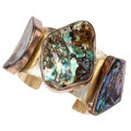 Estate Jewelry:Bracelets, Abalone Shell, Sterling Silver Cuff Bracelet, Rebecca Collins. ...