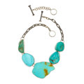 Estate Jewelry:Necklaces, Turquoise, Sterling Silver Necklace, Rebecca Collins. ...