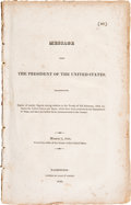 Books:Americana & American History, [U.S. Relations With Spain]. Message From the President of theUnited States Transmitting Copies of Sundry Papers Having...