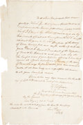 Miscellaneous, [Thomas Jefferson Green]. Texian Revolution Surgeon's AppointmentIssued by General Thomas Jefferson Green Entirely in the Han...