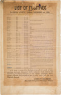 Miscellaneous:Broadside, Fayette County Broadside List of Fugitives. ...