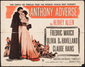 "Movie Posters:Adventure, Anthony Adverse & Other Lot (Warner Brothers, R-1948). HalfSheet (22"" X 28"") & One Sheet (27"" X 41""). Adventure.. ...(Total: 2 Items)"