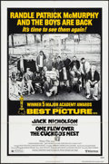"Movie Posters:Academy Award Winners, One Flew Over the Cuckoo's Nest (United Artists, R-1978). One Sheet(27"" X 41"") Academy Award Style. Academy Award Winners...."
