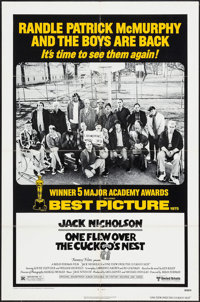 "One Flew Over the Cuckoo's Nest (United Artists, R-1978). One Sheet (27"" X 41"") Academy Award Style. Academy A..."