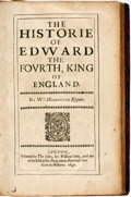 Books:Biography & Memoir, Wm. Habington. The Historie of Edward the Fourth, King ofEngland. London: William Cooke, 1640....