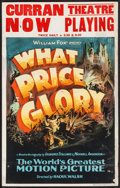 "Movie Posters:War, What Price Glory (Fox, 1926). Window Card (14"" X 22""). War.. ..."