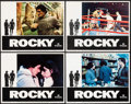 "Movie Posters:Academy Award Winners, Rocky & Other Lot (United Artists, 1977). Lobby Cards (4) (11"" X 14"") and One Sheet (27"" X 41""). Academy Award Winners.. ... (Total: 5 Items)"