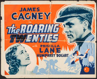 "The Roaring Twenties (Warner Brothers, 1939). Trimmed Other Company Half Sheet (22"" X 27.25""). Crime"