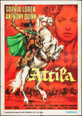 "Movie Posters:Adventure, Attila (Lux Film, 1954). Italian 2 - Foglio (39"" X 55"").Adventure.. ..."