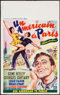 """Movie Posters:Musical, An American in Paris (MGM, 1952). Belgian (14"""" X 22.25""""). Musical.. ..."""