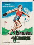 """Movie Posters:Sports, Melbourne Rendezvous (Trans Lux, 1957). French Grande (46.5"""" X 63""""). Sports.. ..."""