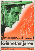 "Movie Posters:Romance, I Take This Woman (Paramount, 1931). Swedish One Sheet (27.5"" X39.25""). Romance.. ..."