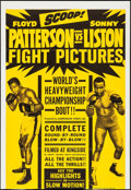 "Movie Posters:Sports, Patterson vs. Liston (Allied Artists, 1962). Trimmed One Sheet (27"" X 39.25""). Sports.. ..."