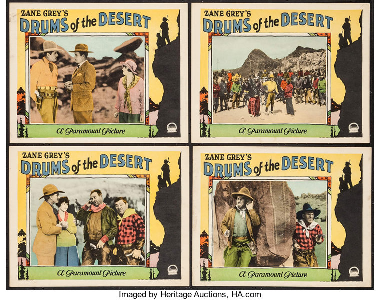 Drums of the Desert (Paramount, 1927)  Lobby Cards (4) (11