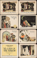 """Movie Posters:Adventure, The Lady of the Harem (Paramount, 1926). Title Lobby Card and LobbyCards (7) (11"""" X 14""""). Adventure.. ... (Total: 8 Items)"""