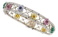 Estate Jewelry:Bracelets, Diamond, Multi-Stone, White Gold Bracelet. ...