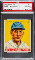 Baseball Cards:Singles (1930-1939), 1933 Goudey Rabbit Maranville #117 PSA NM-MT 8 - None Higher....
