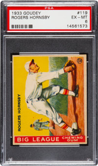 1933 Goudey Rogers Hornsby #119 PSA EX-MT 6