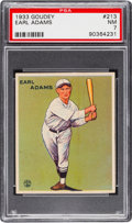 Baseball Cards:Singles (1930-1939), 1933 Goudey Earl Adams #213 PSA NM 7....
