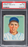 Baseball Cards:Singles (1930-1939), 1933 Goudey Russell Van Atta #215 PSA NM-MT 8....