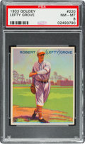 Baseball Cards:Singles (1930-1939), 1933 Goudey Lefty Grove #220 PSA NM-MT 8....