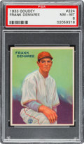 Baseball Cards:Singles (1930-1939), 1933 Goudey Frank Demaree #224 PSA NM-MT 8 - None Higher!...