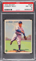 Baseball Cards:Singles (1930-1939), 1933 Goudey Charley Root #226 PSA NM-MT 8 - None Higher! ...