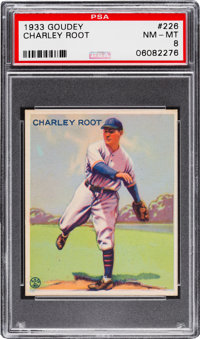 1933 Goudey Charley Root #226 PSA NM-MT 8 - None Higher!