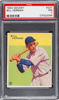 Baseball Cards:Singles (1930-1939), 1933 Goudey Bill Herman #227 PSA NM 7....