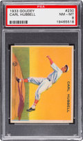 Baseball Cards:Singles (1930-1939), 1933 Goudey Carl Hubbell #230 PSA NM-MT 8....