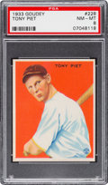 Baseball Cards:Singles (1930-1939), 1933 Goudey Tony Piet #228 PSA NM-MT 8....