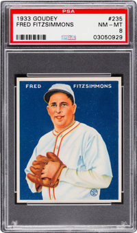 1933 Goudey Fred Fitzsimmons #235 PSA NM-MT 8