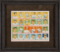 Baseball Cards:Sets, 1933 Goudey Baseball Uncut Sheet ...