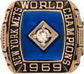 Baseball Collectibles:Others, 1969 New York Mets World Series Championship Ring Presented toPitcher Danny Frisella....