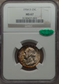 Washington Quarters, 1954-D 25C MS67 NGC. CAC. NGC Census: (48/0). PCGS Population(17/0). Mintage: 42,305,500. Numismedia Wsl. Price for proble...
