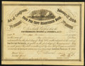 Confederate Notes:Group Lots, Ball 286 Cr. 141 $100 1864 Four Per Cent Registered Bond ExtremelyFine.. ...