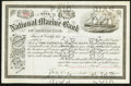 National Bank Notes:Maryland, Baltimore, MD - 40 Shares Stock Certificate The National MarineBank Ch. # 2453. ...
